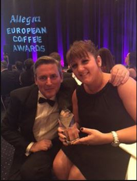 Team Bean win Best Non Coffee Supplier at the Allegra European Coffee Awards!